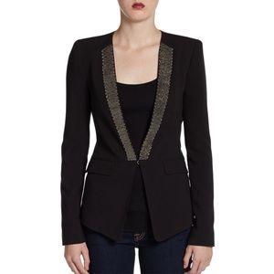 BCBGMaxAzria Whitley Chain Lapel Jacket Blazer